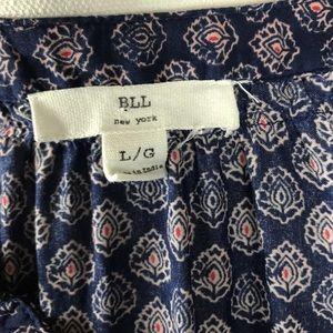 BLL New York Tops - BLL New York boho paisley long sleeve tunic top